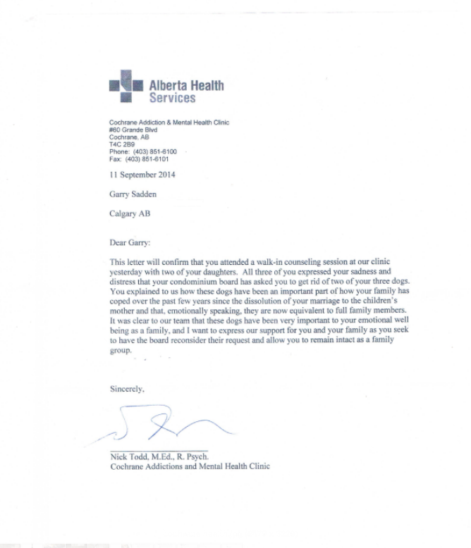 Emotional Support Animal Doctors Note Geccetackletartsco - Emotional support letter template