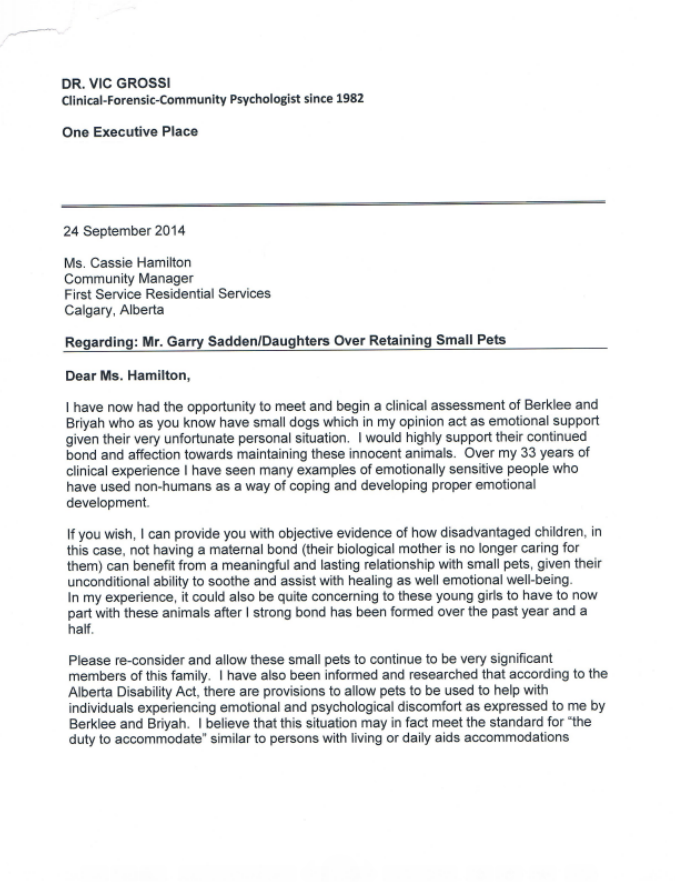 2nd psychologist letter
