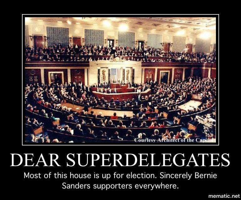 Photo Credit - mematic.net Will Michigan's Superdelegates supersede the mandate by State voters,  affirming Senator Bernie Sanders as the victor in Michigan's Open Primary Election March 8.